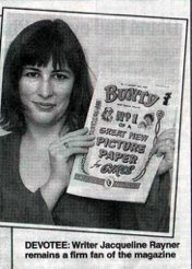 How many people get to appear in the pages of the Daily Express holding a Bunty? I'm guessing no more than eleven or twelve.